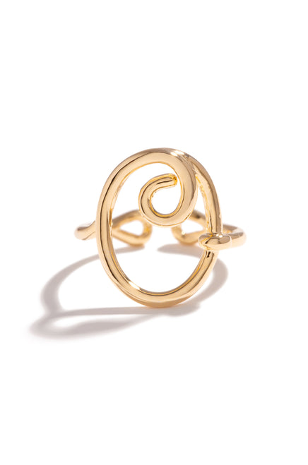 O Initial Ring - Gold