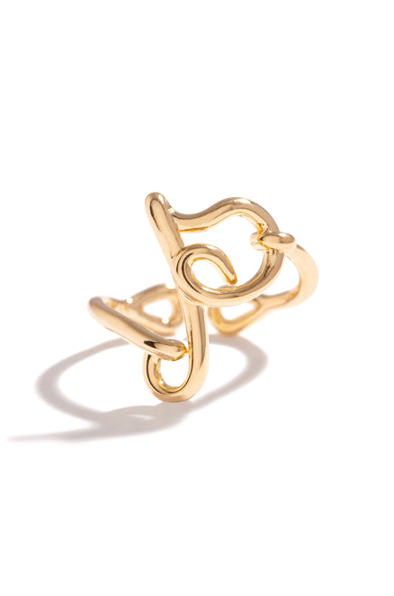 P Initial Ring - Gold