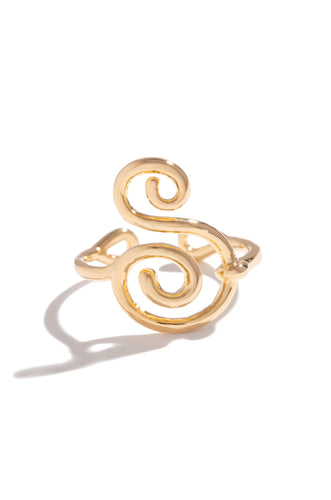 S Initial Ring - Gold