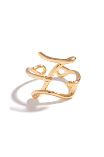 Z Initial Ring - Gold