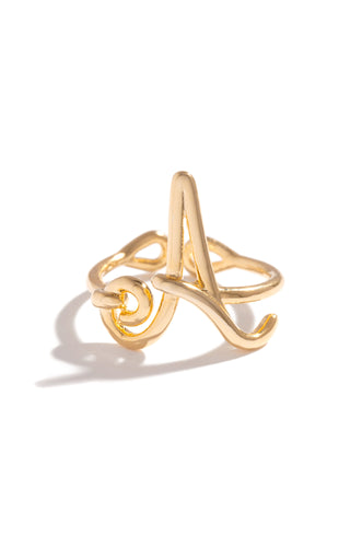 A Initial Ring - Gold
