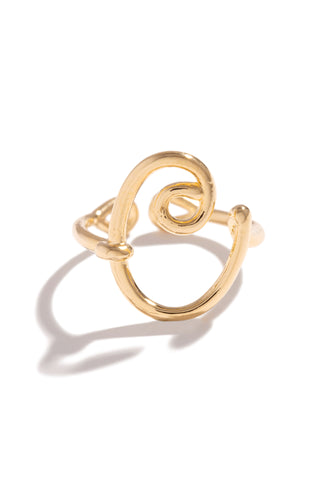 C Initial Ring - Gold
