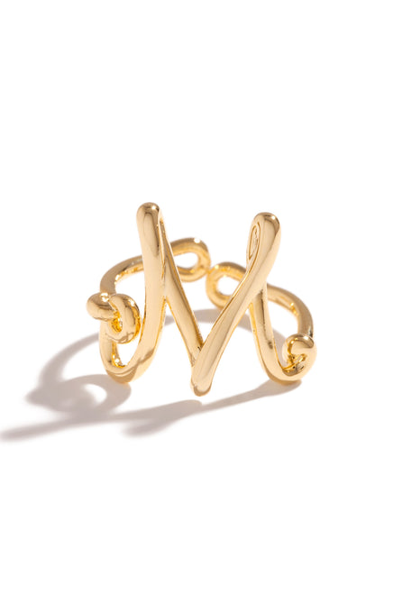 M Initial Ring - Gold