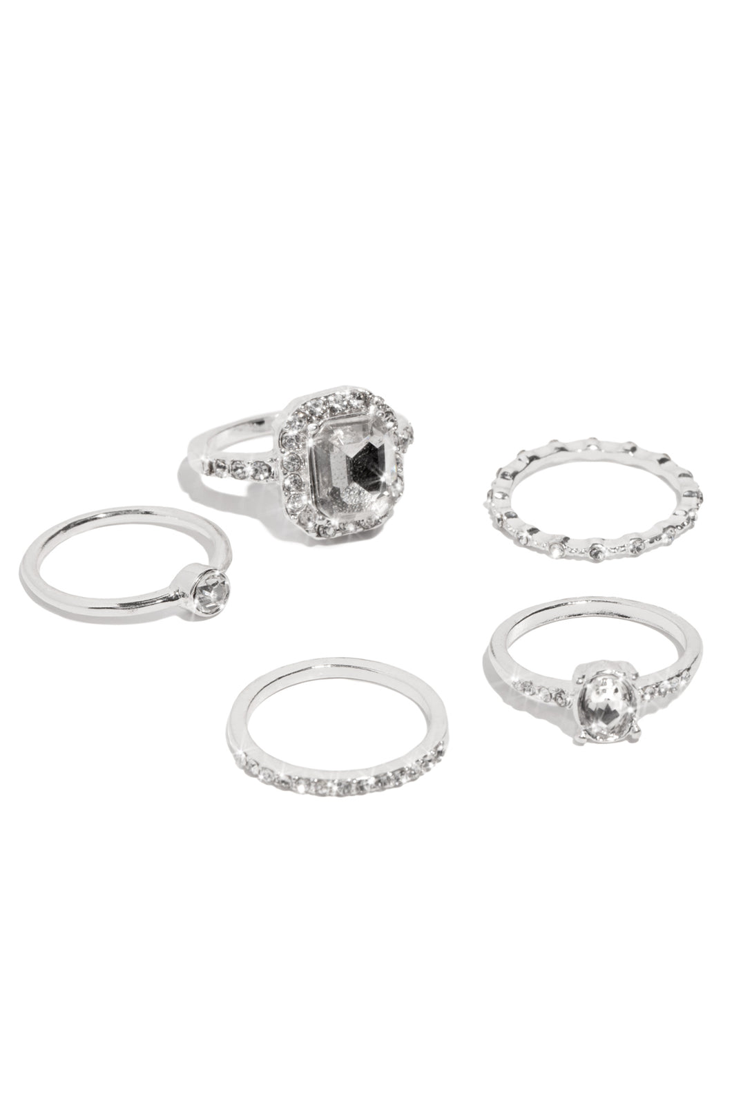 Divinity Ring Set - Silver