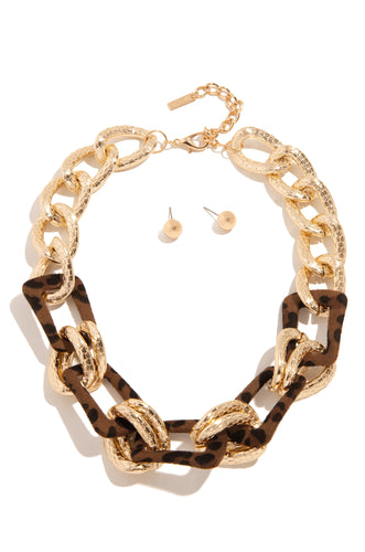 Bombshell Necklace Set - Gold