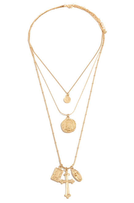 Faithfully Yours Necklace - Gold
