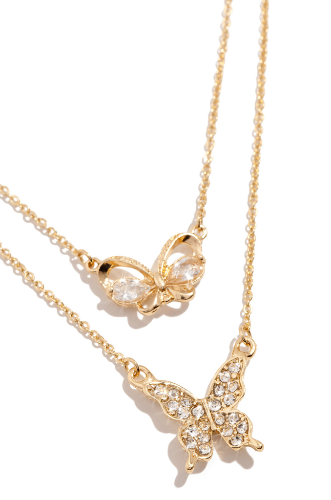 Ur My Butterfly Necklace Set - Gold