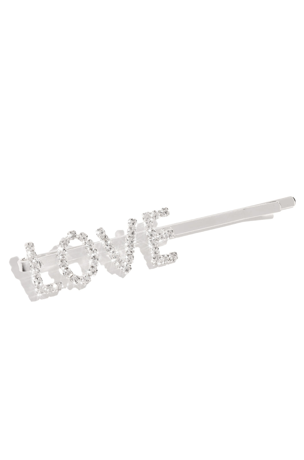 All This Love Hair Clip - Silver