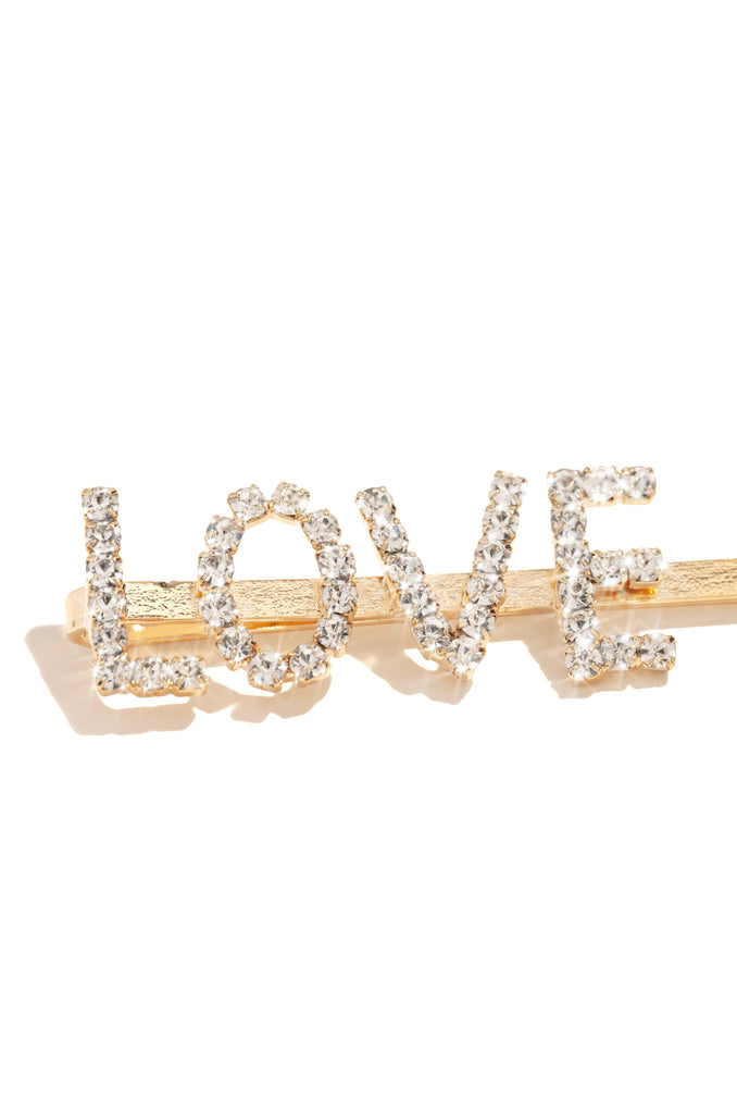 All This Love Hair Clip - Gold