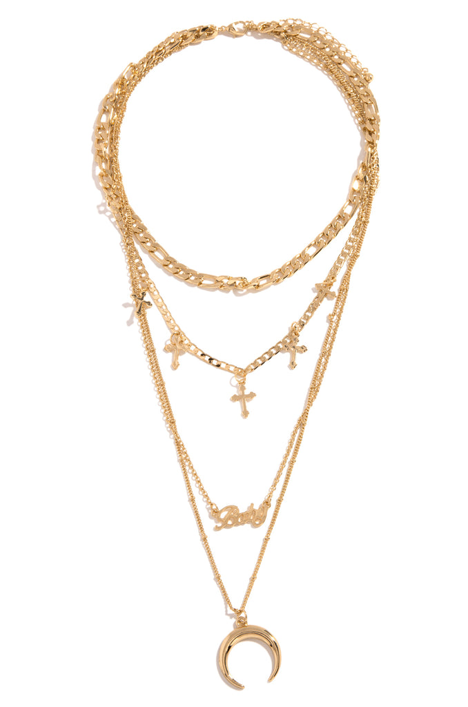 Baddie Mood Necklace - Gold