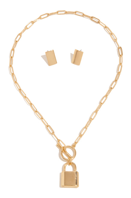 Forbidden Luxe Necklace Set - Gold