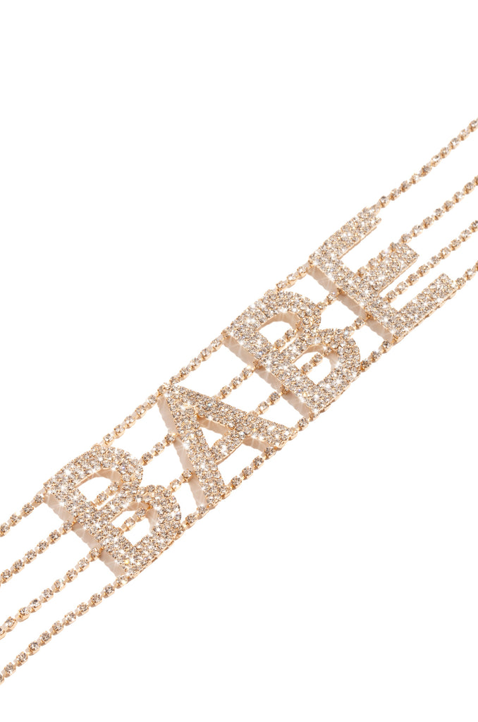 Babe Of The Hour Choker - Gold