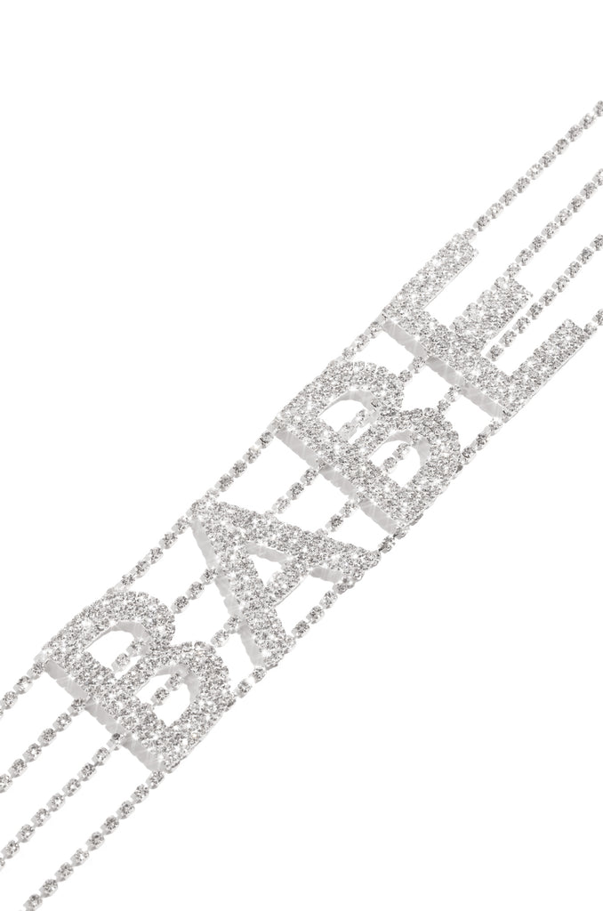 Babe Of The Hour Choker - Silver