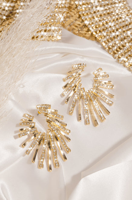 Glam Queen Earring - Gold