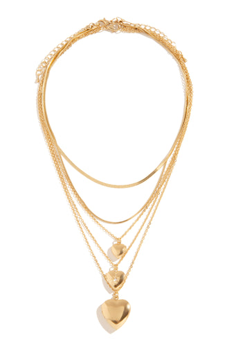 Queen Of Hearts Necklace - Gold