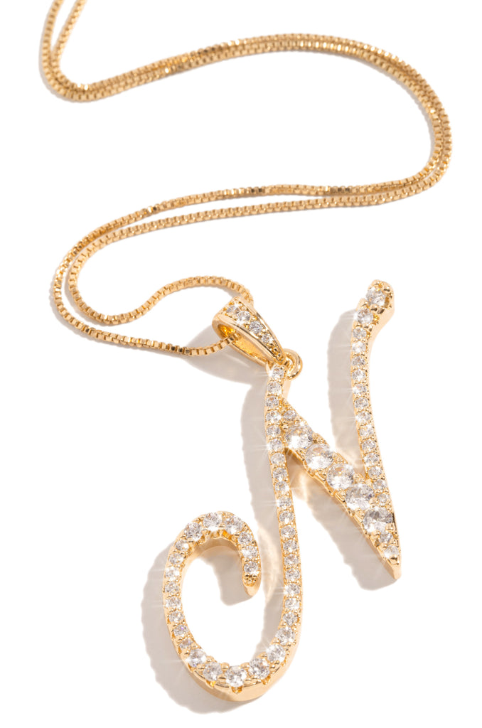 N Necklace - Gold