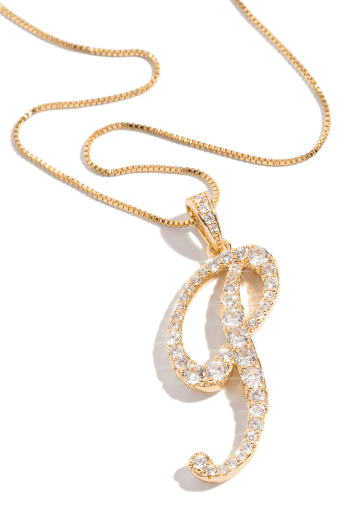 P Necklace - Gold