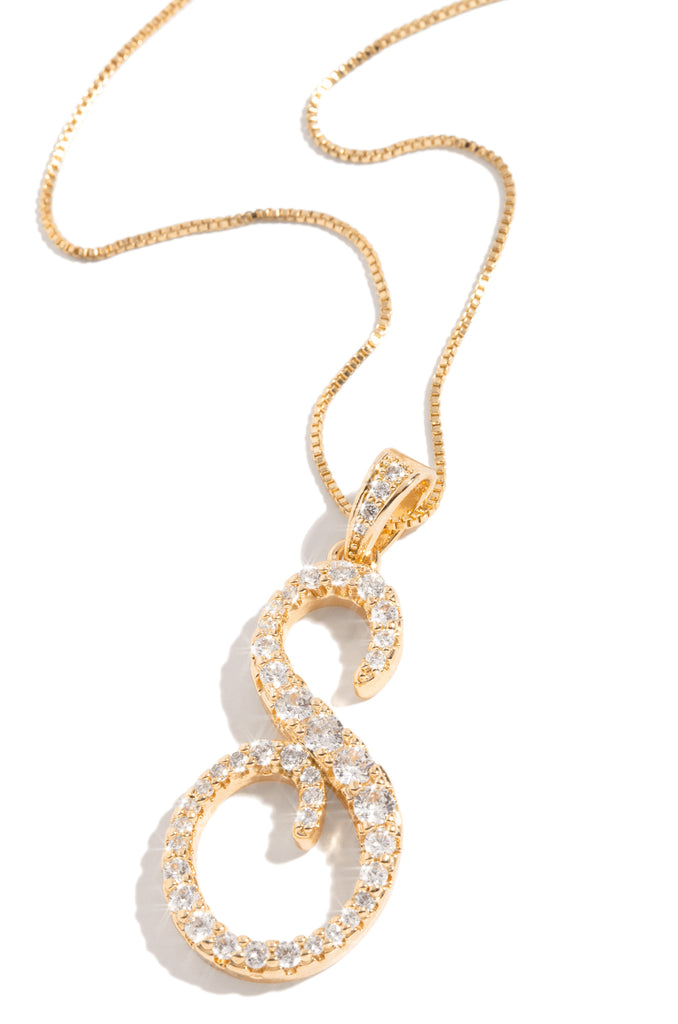S Necklace - Gold