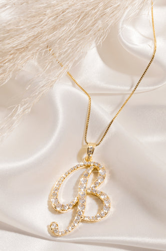 B Necklace - Gold