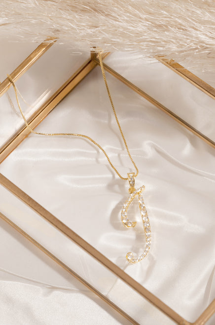 I Necklace - Gold