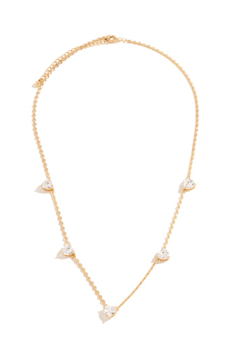 Heart Of Diamonds Necklace - Gold