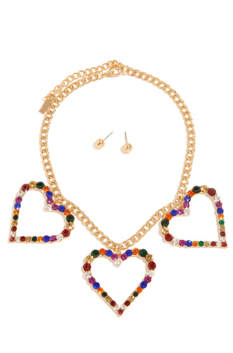 Vision Of Love Necklace Set - Gold