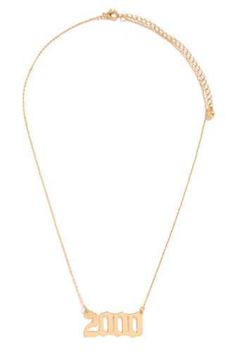 2000 Necklace - Gold
