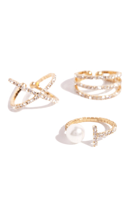 Nicola Ring Set - Gold