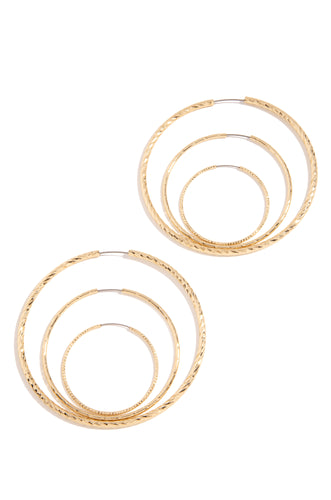 Dayana Earring Set - Gold
