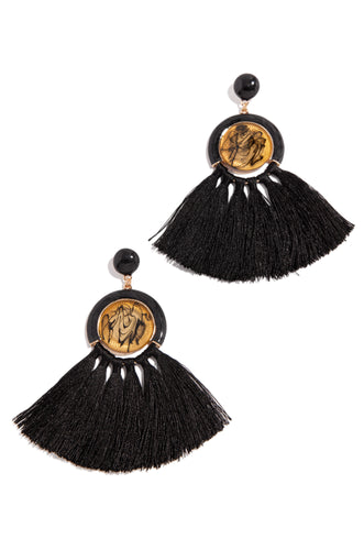 Trips To Caicos Earring - Black