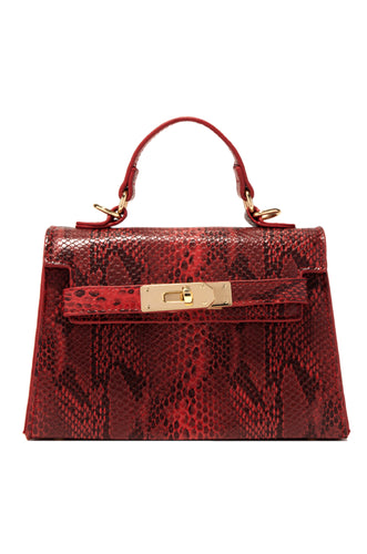 La Femme Mini Bag - Red Snake