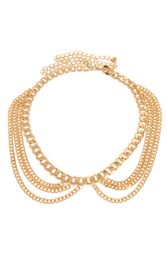 Two Moods Chain Belt - Gold