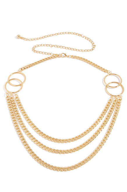 Stefana Chain Belt - Gold