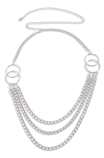 Stefana Chain Belt - Silver