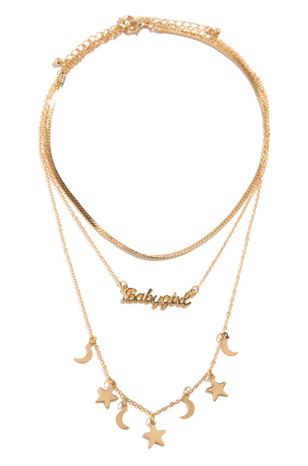 In The Stars Necklace - Gold