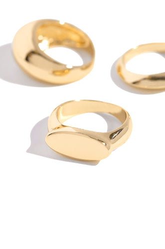 Adah Ring Set - Gold