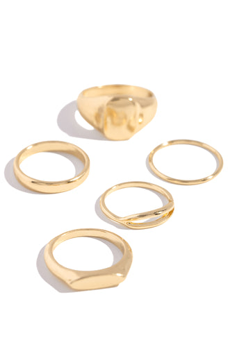 Golden Girl Ring Set - Gold