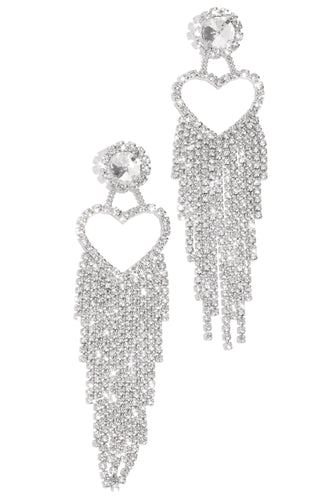 Drippin Love Earring - Silver