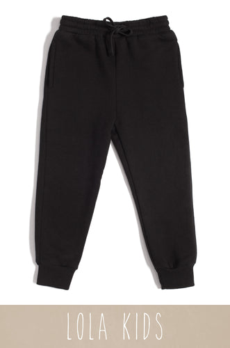 Mini Cozy Feels Jogger - Black