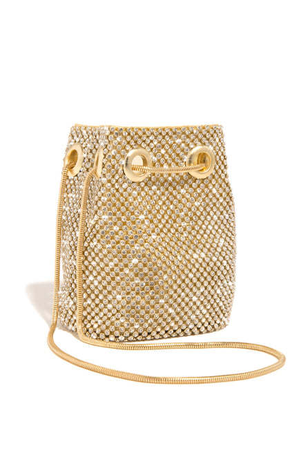 Mini Parisian Lights Bucket Bag - Gold