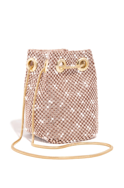 Mini Parisian Lights Bucket Bag - Rose Gold