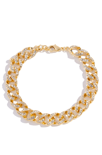 Link Up Anklet - Gold