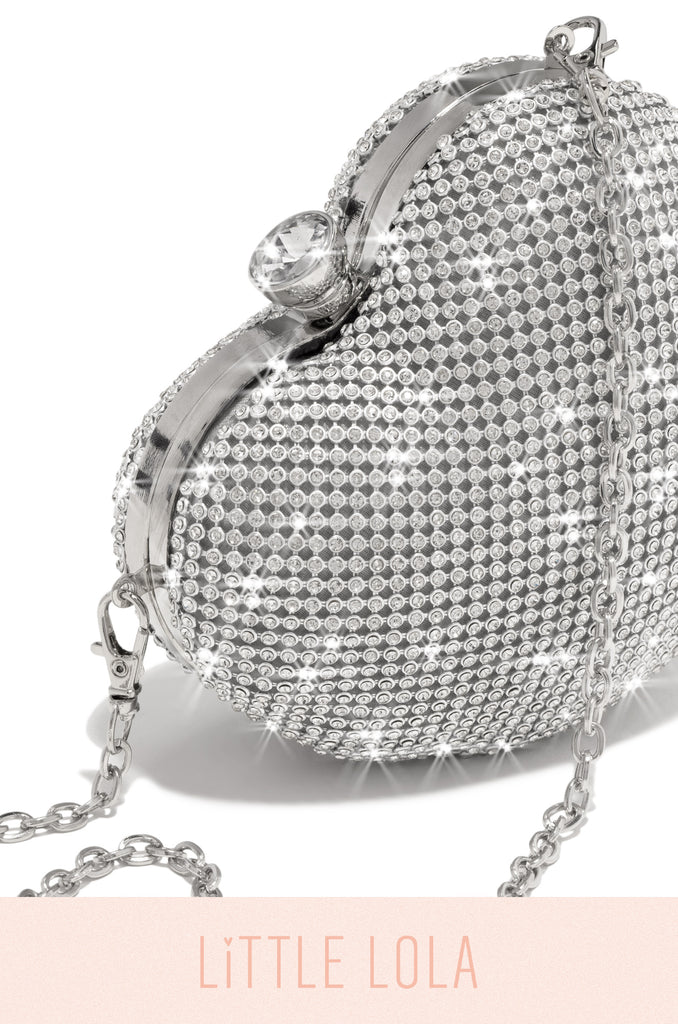 Mini Forbidden Love Bag - Silver