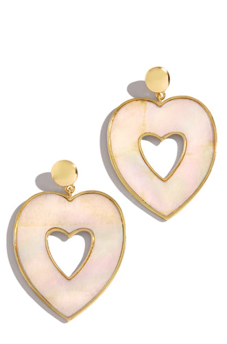 Heart Breaker Earring - Gold