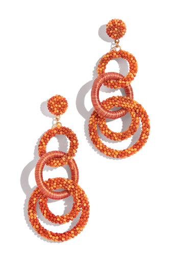 Sea The Shore Earring - Orange