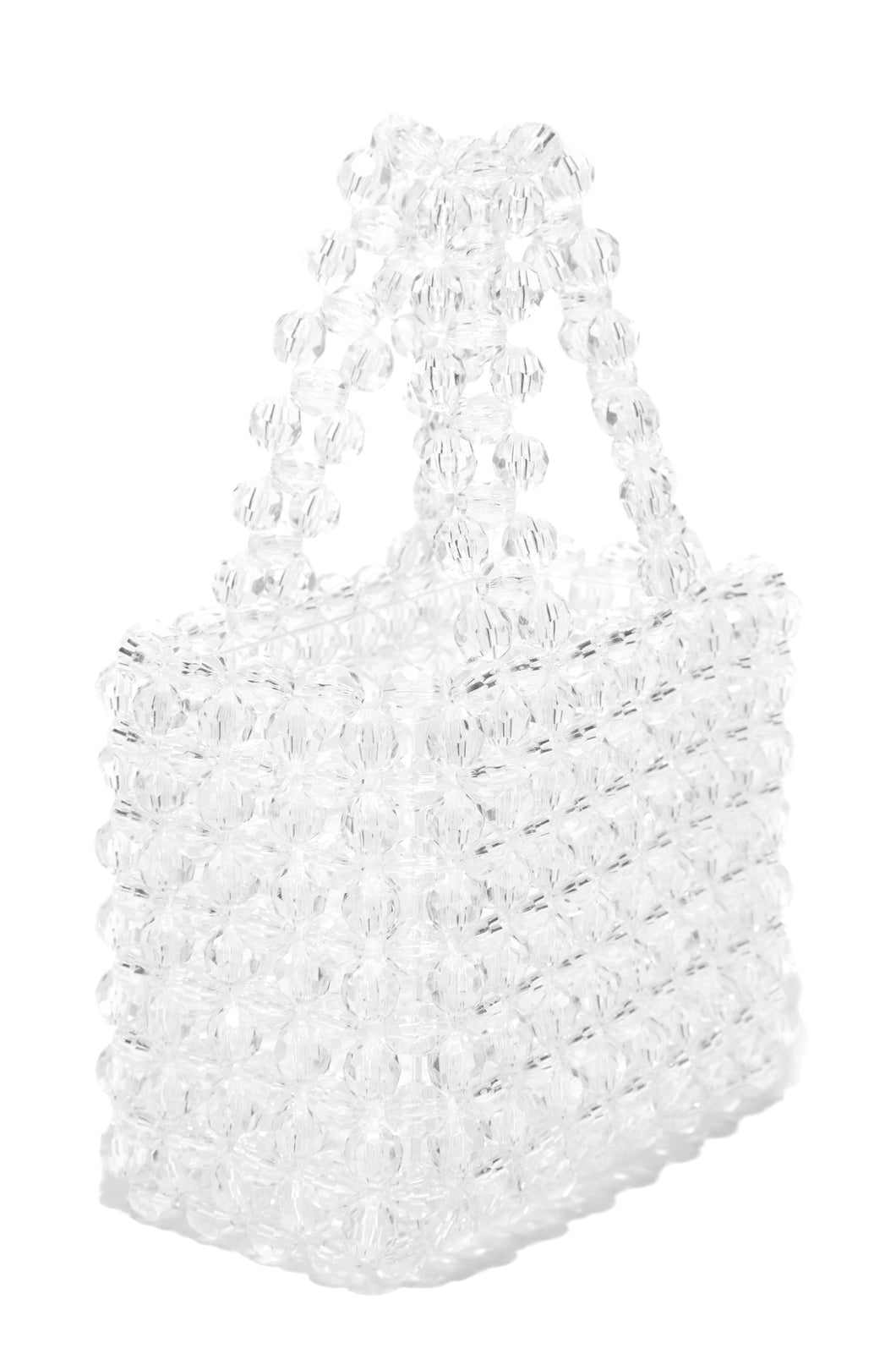 House Of Crystals Hand Bag - White