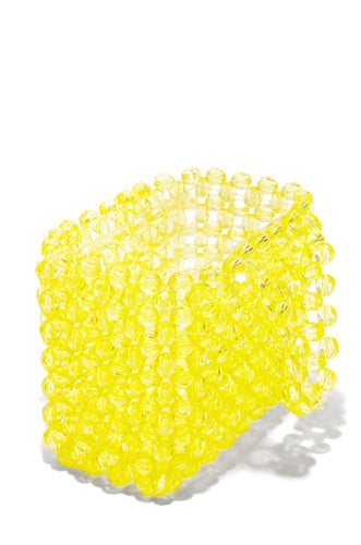 House Of Crystals Hand Bag - Yellow