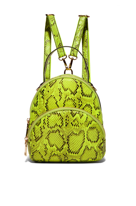 Bites Back Backpack - Neon Lime