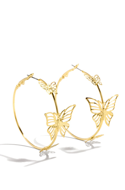 Flying Free Earring - Gold