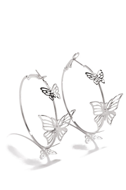 Flying Free Earring - Silver
